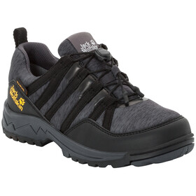 Jack Wolfskin Thunderbolt Texapore Low Schuhe Kinder black/dark grey